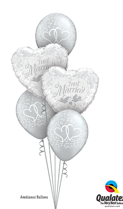 "Ballons CLASSIC ""Just Married Hearts"""