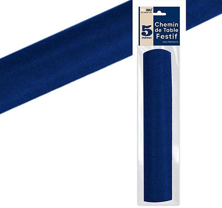Chemin de table Intissé Uni Bleu