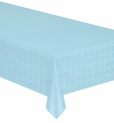 Nappe en rouleau papier damassé bleu pastel 6 mètres