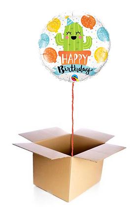 Ballon Happy Birthday Cactus