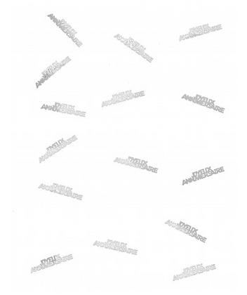 Confettis Joyeux anniversaire blanc