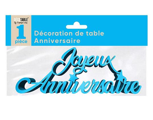 Décoration de table Anniversaire Métalllisée Bleu