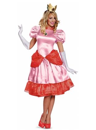 Déguisement Princesse Peach™ Deluxe Femme