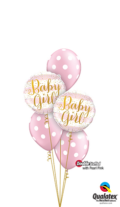 """Ballons CLASSIC """"Baby Stripes"""" Girl"""