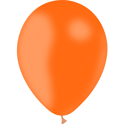 "Ballon Latex Orange, 11"" (28 cm) - Balloonia"
