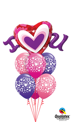 """Ballons LUXURY """"I Love You"""""""