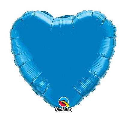 Ballon Coeur 18″ Bleu – Qualatex