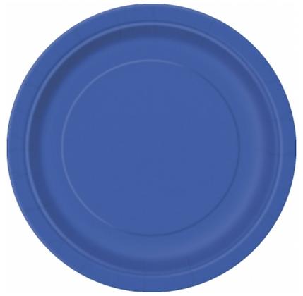 16 assiettes en carton bleu 23 cm