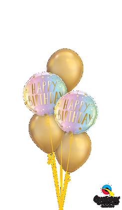 "Ballons CLASSIC ""Shiny Neon & Gold Bday"""