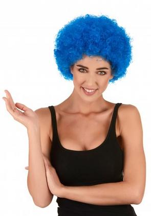 Perruque afro/clown bleue standard adulte
