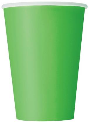 10 Gobelets en carton vert citron 355 ml
