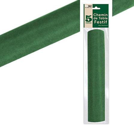 Chemin de table Intissé Uni Vert