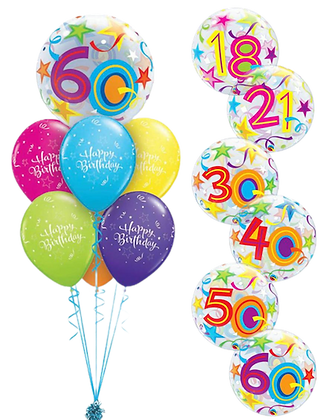 Ballons LUXURY Bubble Birthday Brillant Stars