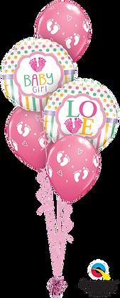 "Ballons CLASSIC ""Baby Love Feet"" Rose"