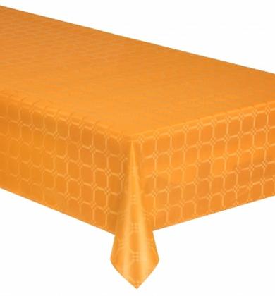 Nappe en rouleau papier damassé orange 6 mètres
