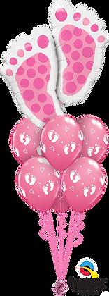 "Ballons LUXURY ""Baby Feet"" Rose"