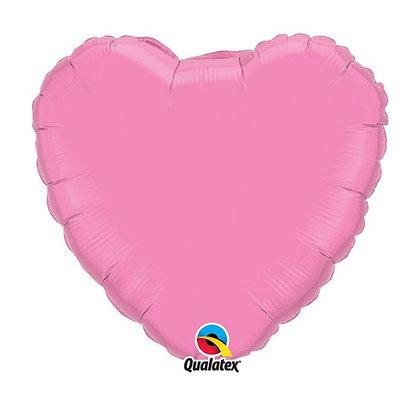 Ballon Coeur 18″ Rose – Qualatex