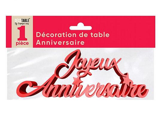 Décoration de table Anniversaire Métalllisée Rouge