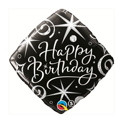 Ballon Aluminium 18″ Birthday Elegant sparkles & Swirls – Qualatex