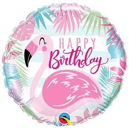 Ballon Aluminium 18″ Birthday Pink Flamingo – Qualatex