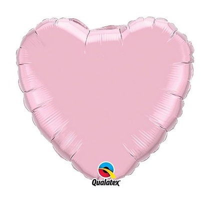 Ballon Coeur 18″ Rose Perle – Qualatex