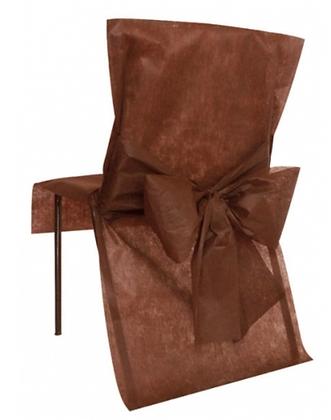 10 Housses de chaise chocolat 50 x 95 cm
