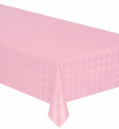 Nappe en rouleau papier damassé rose 6 mètres