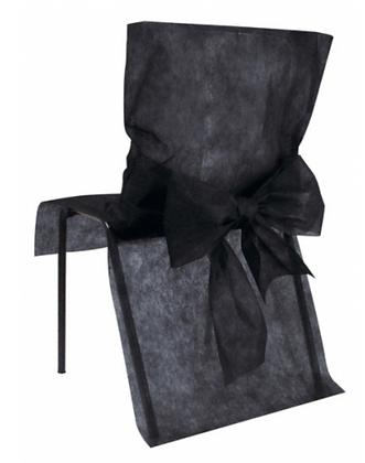 10 Housses de chaise noir 50 x 95 cm