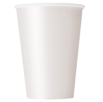 10 Gobelets en carton blanc 355 ml