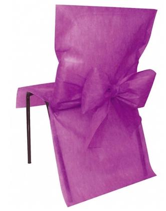 10 Housses de chaise prune 50 x 95 cm