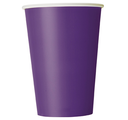 10 Gobelets en carton violet 355 ml