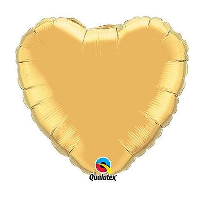 Ballon Coeur 18″ Or – Qualatex