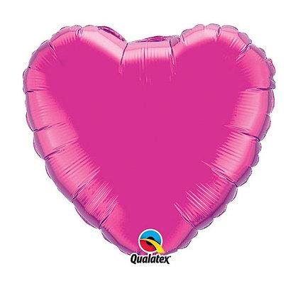 Ballon Coeur 18″ Magenta – Qualatex