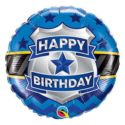 Ballon Aluminium 18″ Birthday Badge – Qualatex