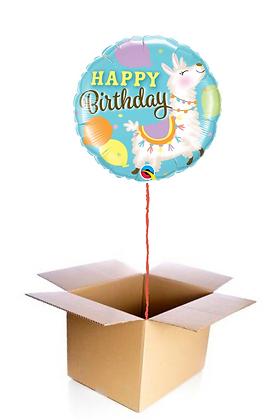 Ballon Happy Birthday Lama