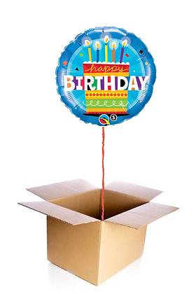 Ballon Happy Birthday Cake