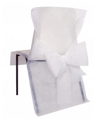 10 Housses de chaise blanc 50 x 95 cm