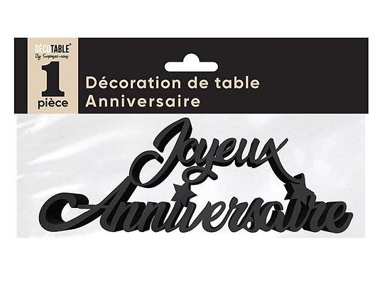 Décoration de table Anniversaire Métalllisée Noir