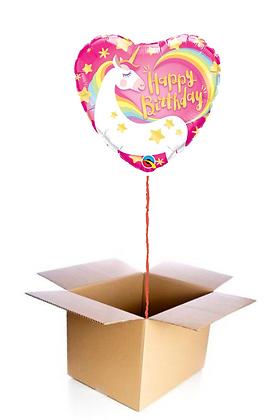 Ballon Happy Birthday Licorne