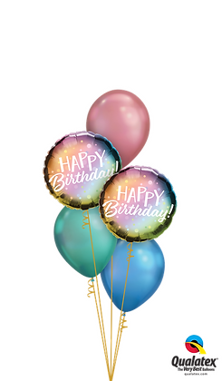 "Ballons CLASSIC ""Colorful Chrome Bday"""