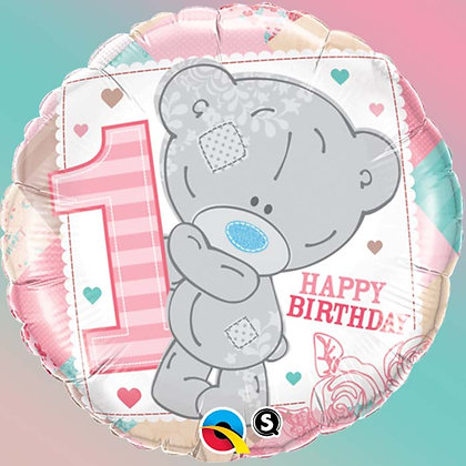 Ballon Aluminium 18″ Me To You Tiny Tatty 1st Birthday Girl – Qualatex