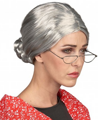 Perruque à chignon Grand-mère femme