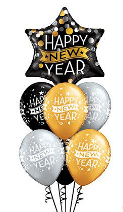 "Ballons LUXURY Etoile ""Happy New Year"""