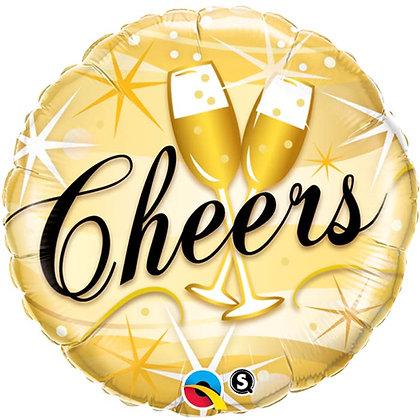 Ballon Aluminium 18″ Cheers – Qualatex