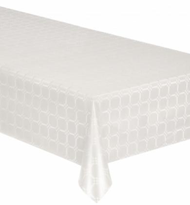 Nappe en rouleau papier damassé blanc 6 mètres