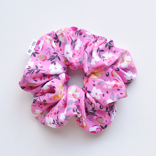 Classic Scrunchie - Spring Flower Pink