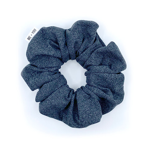 Premium Scrunchie - Heather Charcoal Athletic Knit