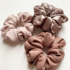 Knit & Velvet Scrunchies
