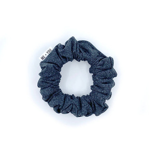 Mini Scrunchie - Heather Charcoal Athletic Knit