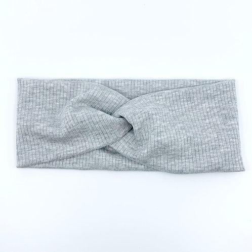Heather Grey Twisty Headband